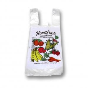 Sacola Frutas e Verduras Pacote 38cm x 50cm.
